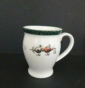 Big Sky Carvers Fishing Red Bobble Lure Coffee Mug Cup Fishing Wright Porcelain