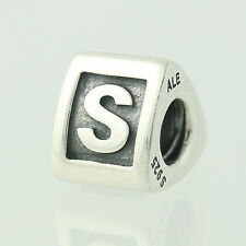 New Pandora Bead Charm - Sterling Silver 790323S Alpha S Letter Retired