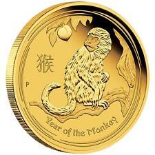 2016 Australian Lunar Year of the Monkey 1/10 oz Gold Proof $15 Coin Australia