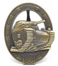 Orden Panzerkampfabzeichen mit Einsatzzahl 50 - 57er Version - Repro