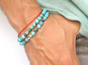 14k rose gold tube beads real natural turquoise lapis  gemstone bracelet wrap