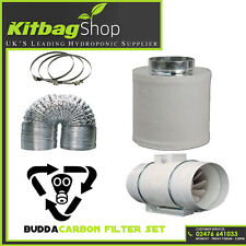 "EXTRACTOR FAN KIT FOR USE IN A GROW TENT 4"" CARBON"