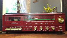 Stereoanlage kompakt original 70er Jahre rot  -- Liebhaberstück