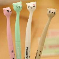 Gel Pen Cartoon Cute Cat Student Stationery School Black Office A0I4 Y1Q6