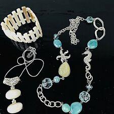 Ocean Theme Jewelry Lot Necklace Pendant Bracelet Star Fish Sea Horse