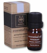 APIVITA 100% Organic Essential Oil Rosemary for Mind and Spirit/Healthy Hair 5ml