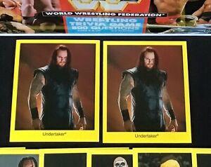 (10) WWF Trivia Lot Includes (2) The Undertaker Wrestling Cards