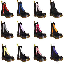 6bfeb4f015 NEW Satin Ribbon Laces Bootlaces with our LOGO Aglets Fits Ankle DOC Boot  Shoes