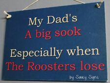 Sydney Roosters Easts Sooky Dad Sign Jersey Cards  Rugby League Etc