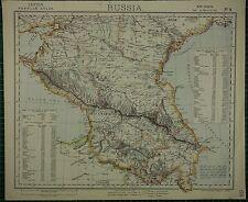 1883 LETTS MAP ~ RUSSIA POPULATION CAUCASIA BAKU ERIVAN KOUTAIS MINGRELIA