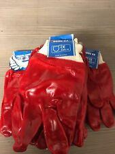 12 pair red waterproof rubber working gloves