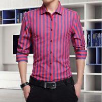 Business Men's Tops Casual Fashion Slim Fit Long Sleeve Shirt Dress Shirts
