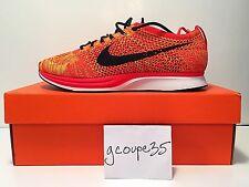 b8ab51568230 Nike Flyknit Racer Bright Crimson Cheeto Cheetos V2 Size 9.5 Black Lace Swap