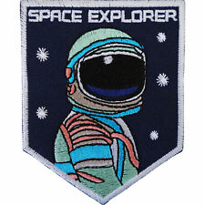 Space Explorer Astronaut Iron On Patch / Sew On Costume Badge Spaceman NASA
