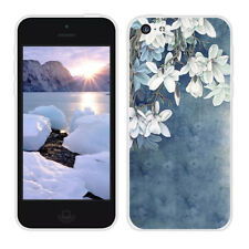 Soft TPU Silicone Case For iPhone 5G 5S SE 5C Protective Back Cover Skins Floral