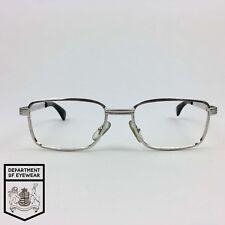 DIESEL per occhiali frame Rettangolo D'Argento Spazzolate AUTENTICO. MOD: Strofinata via