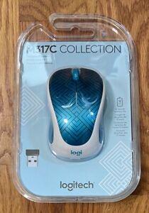 Logitech M317C Wireless Optical Mouse w/ Nano Receiver Teal Maze NEW & FREE SHIP