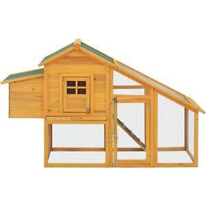 Chicken Coop Outdoor Run Hen House Large Wood Rabbit Hutch Poultry Ark run Nest