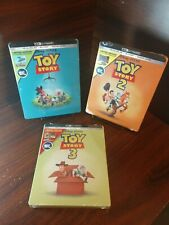 Toy Story Collection 1,2,3 Steelbook (4K+Blu-ray-No Digital) Unused-Free Box S&H