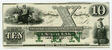 1800's $10 The New England Commercial Bank - Newport, RHODE ISLAND Note CU