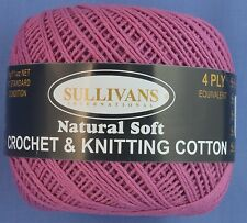 Rose 4 ply Crochet or Knitting Cotton