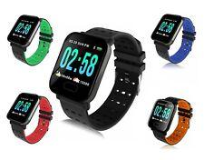 A6 Smart Watch Bracciale pressione sanguigna frequenza cardiaca Monitor Fitness