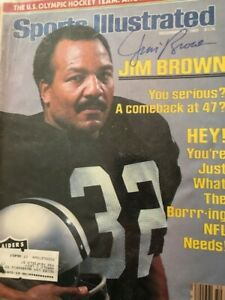 Jim Brown HOF Sports Illustrated 12/12/83 autographed cover