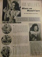 Ann Miller, Grace McDonald, Double Full Page Vintage Clipping