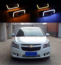 2x For Chevrolet Cruze 2009-2012 White LED Daytime Day Fog Light Signal Lamp DRL