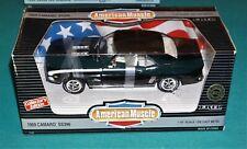 1969 Chevrolet Camaro SS396 Black American Muscle Ertl 1/18 Diecast New In Box.