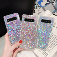 F Samsung Galaxy S20 S10 Plus/S10e/Note 10/A70 20 Phone Case Bling Glitter Cover