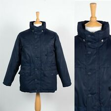 MENS TOMMY HILFIGER DARK BLUE PADDED JACKET COAT WINTER WARM QUILTED INNER XS