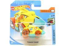 Hotwheels Piranha Terror Yellow Street Beasts FYD44 Short Card 1 64 Scale Sealed