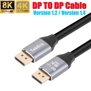 Displayport Display Port to DP Cable Male Male V1.4 4096*2160 8K 60HZ V1.2 4K