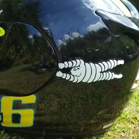 Michelin man HANG ON sponsor stickers motorcycle decals graphics x 2 small FUN