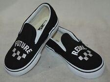 Vans Toddler Boy's Classic Future Rebel Black/White SlipOn Skate Shoes-Asst Szs