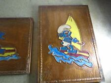 SMURF VINTAGE 2 PLATES FOR YOUR WALL RARE