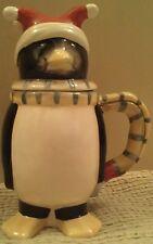Oneida Christmas Penguin Mug with Lid Cut out Mug Cug Lid Christmas Ceramic