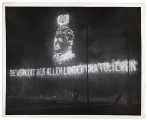 1949 East Berlin Hails Stalin on 70th Birthday Huge Torchlight Parade News Photo