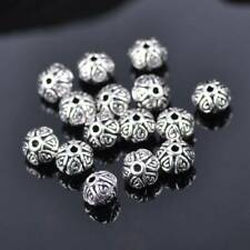 50pcs 6.5mm Tibetan Silver Metal Flower Loose Spacer Beads lot 14# DIY Jewelry