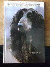AFGHAN HOUNDS BY BEVERLEY PISANO 1980 HARDBACK BOOK