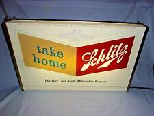 Schlitz Beer Lighted Bar Tavern Sign 1950's vintage