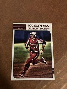 Jocelyn Alo Oklahoma Sooners Softball NCAA National Champions POY Custom Card