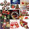 Árbol Navidad Decor bolas Star Christmas sombrero Xmas Snowman Bag Sock Adornos