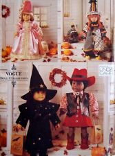 Vogue 9663 607 Girl Doll Clothes Pattern Costumes Halloween Witch Linda Carr