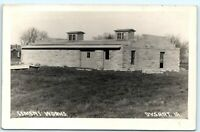 1912 Dysart Iowa Cement Works RPPC Real Photo Postcard Factory Industrial Brick