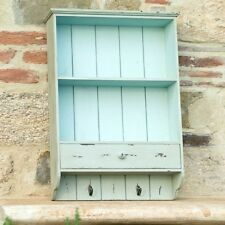 MOBILE PENSILE SHABBY CHIC PROVENZALE COLOR SALVIA con ganci vintage Industrial