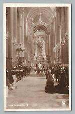 Guadalupe Catholic Basilica RPPC Mexico City DF Antique Foto Photo Interior 1920