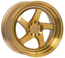 18X8.5 18X9.5 +38 GOLD F1R F28 5X114.3 WHEELS FIT FORD MUSTANG GT 240SX 300ZX TL