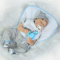55cm 22 inch Lifelike Sleeping Reborn Baby Dolls Newborn Toddler Kids Gift Toys